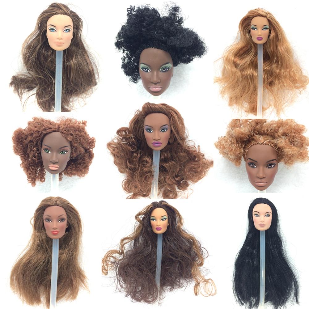 NK 3 Set/Lot Randomly Fashion Royalty Original Doll Integrity Hair Doll Head For FR Dolls 2002 Limited Edition Collection кукла fashion royalty crazy girl misaki nippon fashion doll 2008