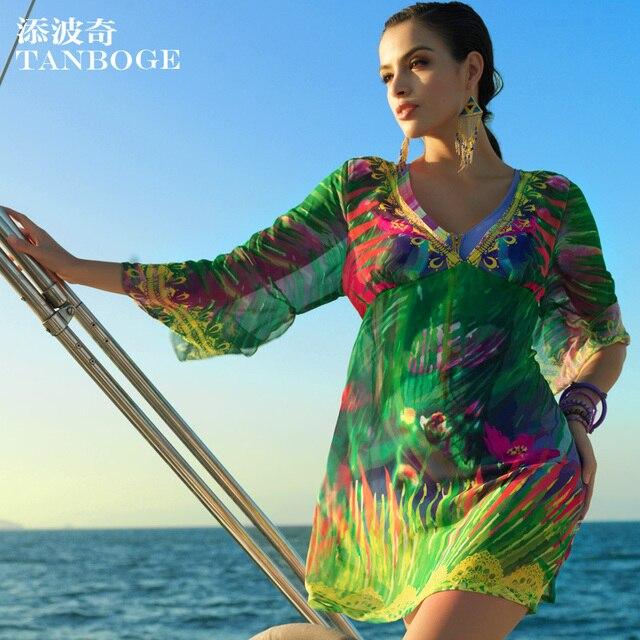TANBOGE Plus Size Swimwear Cover Ups Women Beach Wear Beachwear ...