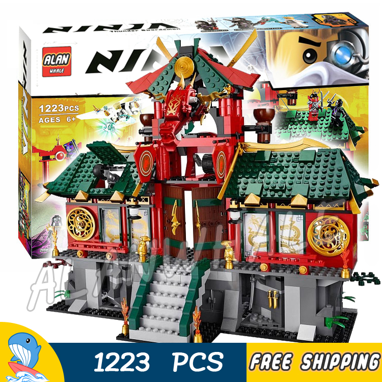 1223pcs New Battle for Ninja City Temple Base Glider 9797 Figure Building Blocks Classic Assemble Toy  Compatible With LagoING