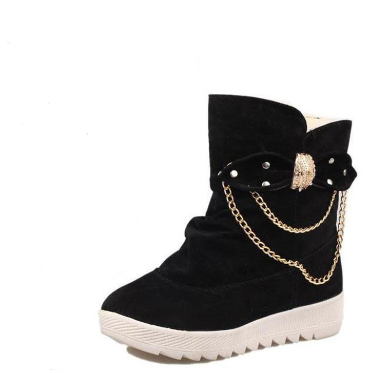 New female winter boots short tube heat preservation cotton shoes add hair thickening short boots boots, leisure and fashion