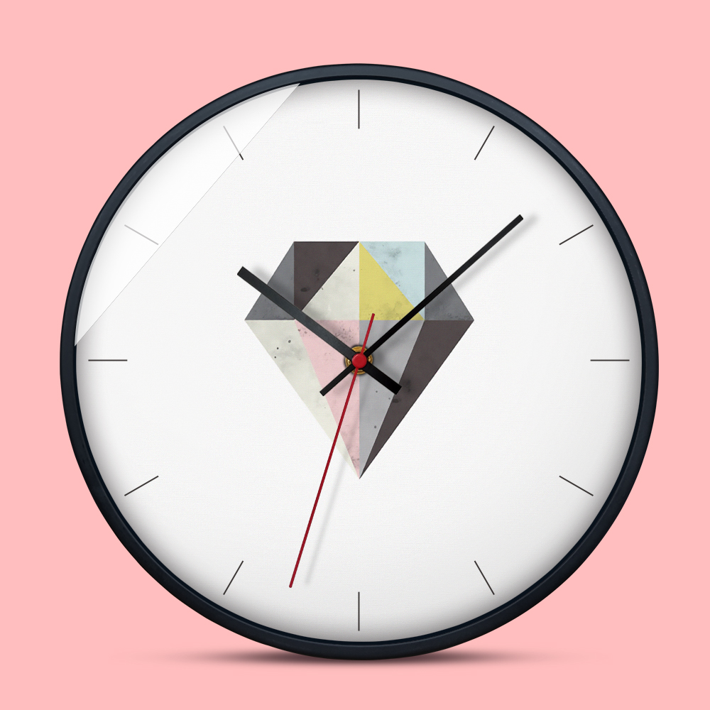 12 Inch Wall Clock Modern Design 4 Patterns Silent Movement Living House Warming Modern Design on design roses, design flowers, design cakes, design showers, design office, design wedding,