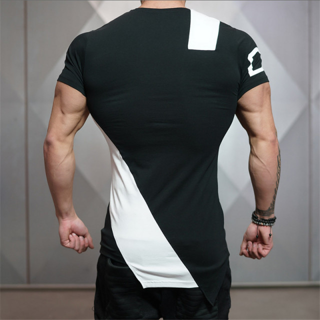 2018 Gyms Bodyengineers Summer The Stadium Shark Stringer T-shirt Man Bodybuilding And Fitness Crime Short Sleeve T-shirt 2