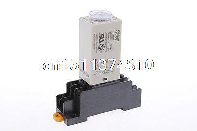 цена на 10 set base + time timer relay 8pin H3Y-2 H3Y DC24V 5A 0.1min-3min 3min