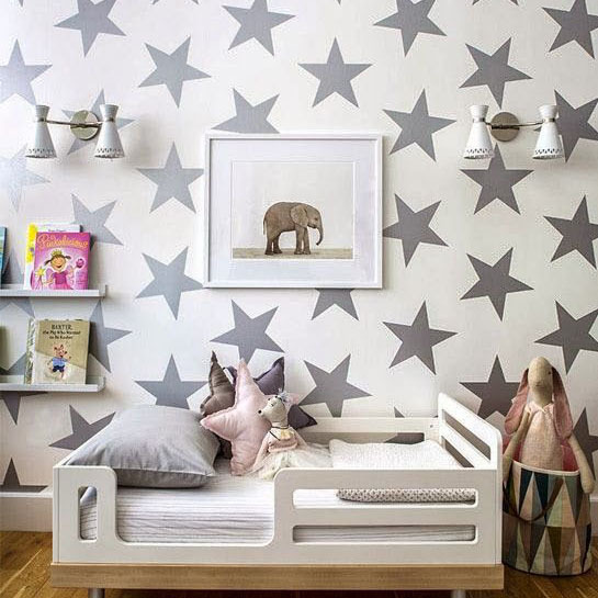 stars wall sticker diy baby nursery wall decals removable stars wall decal for kids room easy - Star Wall Decor