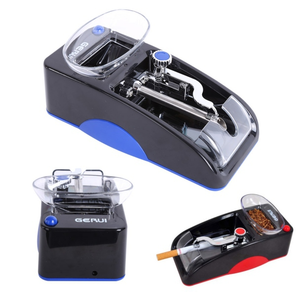 1pcs Electric Automatic Cigarette Rolling Machine Tobacco Injector Maker Roller EU Electric Power Random Color