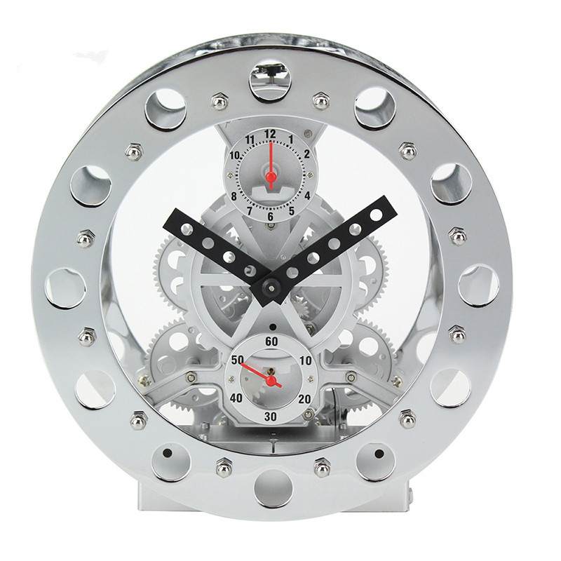 New Arrival Fashion Creative Large Gear Wall Clock Mechanical Gear Mute Wall Quartz Clock Home Decor