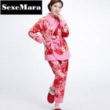 2016 sale autumn winter pajama sets home furnishings long sleeve pajamas women sleepwear pyjama femme home clothes D7-BD48-BZ