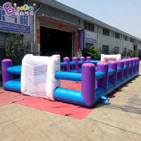 Free delivery 10X5X1.8 meters inflatable soccer table game Hot sale football table game for kids outdoor toys sport game
