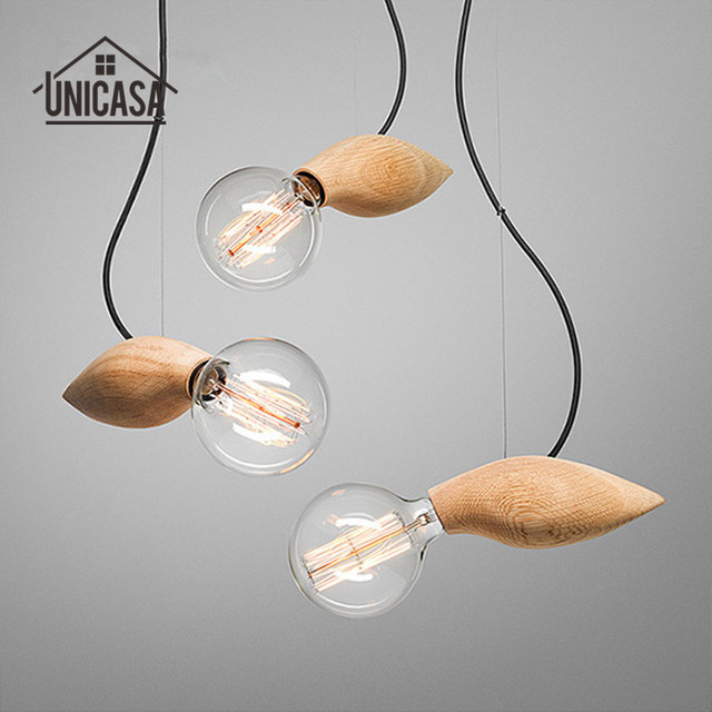 Modern wooden pendant lights industrial art deco lighting fixtures modern wooden pendant lights industrial art deco lighting fixtures hotel kitchen island office antique mini pendant workwithnaturefo