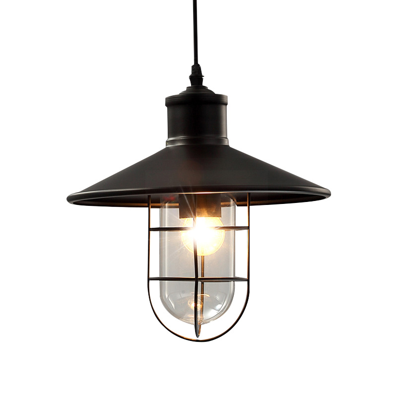 American Country Metal Cage Dining Room Pendant Lamp Restaurant Europe Bar Counter industrial Glass Lampshade Pendant LightsAmerican Country Metal Cage Dining Room Pendant Lamp Restaurant Europe Bar Counter industrial Glass Lampshade Pendant Lights