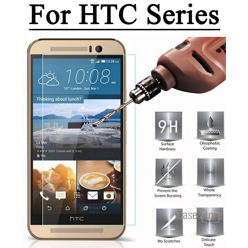2.5D 9H Tempered Glass Explosion Proof Film For HTC One M7 M8 M9 10 M10 Desire 626 620 616 510 820 816 826 Screen Protector
