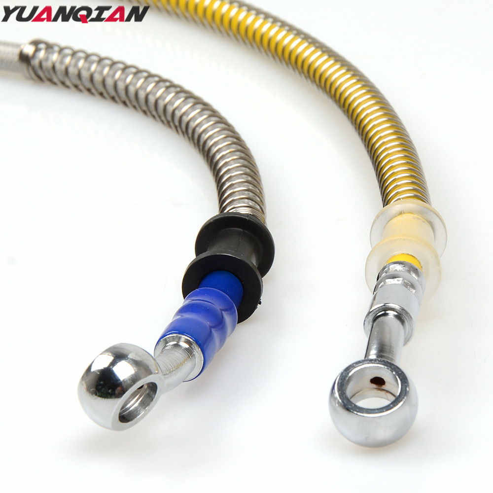Motorcycle Brake Pipe Hydraulic Reinforced Brake Or Clutch Oil Hose Line Pipe Fit Scooter Atv Dirt Pit Bike Tubing Braid Steel red 1500mm 2000mm 2300mm motorcycle brake pipe tubing braided steel hydraulic reinforced brake or clutch oil hose line pipe