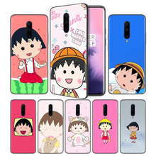 Cherry chibi maruko chan Cartoon Soft Black Silicone Case Cover for OnePlus 6 6T 7 Pro 5G Ultra-thin TPU Phone Back Protective