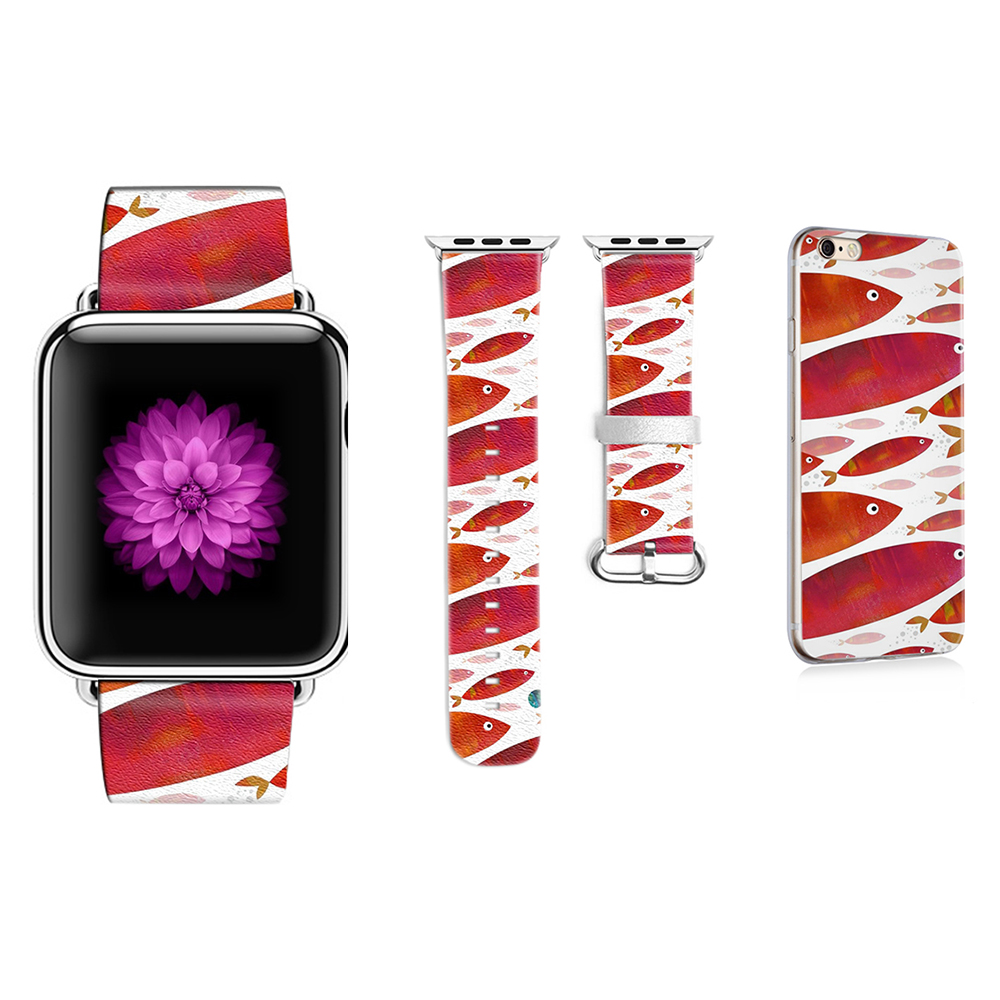 New Whale Pattern Style Leather Band for Apple Watch Band 38mm 42mm Bracelet Bele for Iwatch 1 2 3 Series Gift for IPhone Case original abstract art lines band for apple watch band 38mm 42mm leather for iwatch band series 1 2 3 gift for iphone case