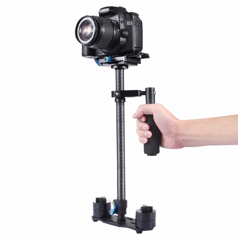 PULUZ S60T Portatif Professionnel En Fiber De Carbone Mini Caméra Stabilisateur DSLR Caméscope Vidéo Steadicam