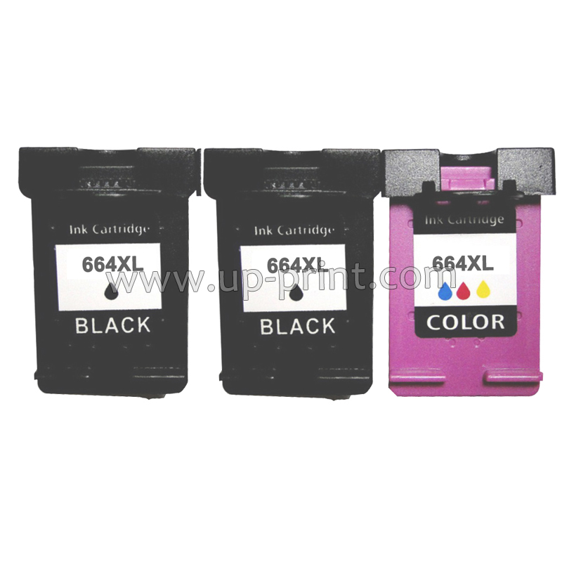 UP 3pcs remanufactured Ink Cartridge For HP 664 664XL For HP DeskJet 1115 2135 3635 1118