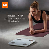 2019 Xiaomi Smart Body Fat mi Scale 2 Digital Bathroom Weight Scales Floor Electronic mi Body Composition Scale Balance Xiaomi