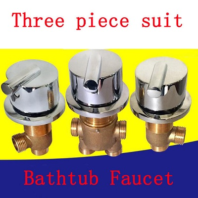 3 Piece suit cold and hot water master switch/separator, 3PC=1SET shower room mixing valve, Brass bathroom bathtub faucet mixer 3 tap connect 3 4 5 gear screw thread thermostatic faucet valve shower room mixing valve cold and hot water switch separator