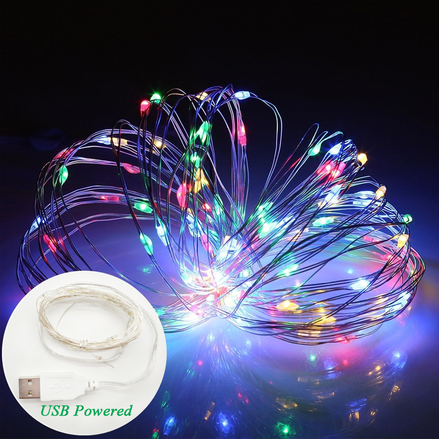 Bestope Silver Wire Fairy Light LED String Lights 20M 15M 12M Christmas Wedding Party Decoration Powered By USB Led Strip Lamp