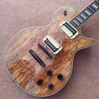 Hurtownie-Custom Shop Drewniane Stałe zgniłe drewno drzewo Electric Guitar Top instrumenty muzyczne HOT