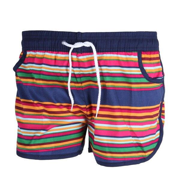 a62dec1647 Colores a rayas Partten verano mujeres parejas playa bordo bermudas surf  sport short feminino femme shorts para mujeres en Pantalones cortos de La  ropa de ...