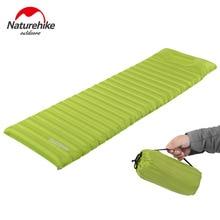 Naturehike innovativa sovplatta snabbfyllningslucka superljus uppblåsbar madrass med kudde liv räddning cusion 550g