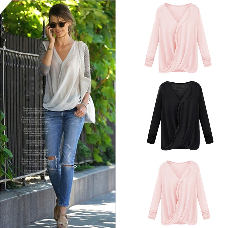 Womens Wrap Tops Blouses - My Blouses