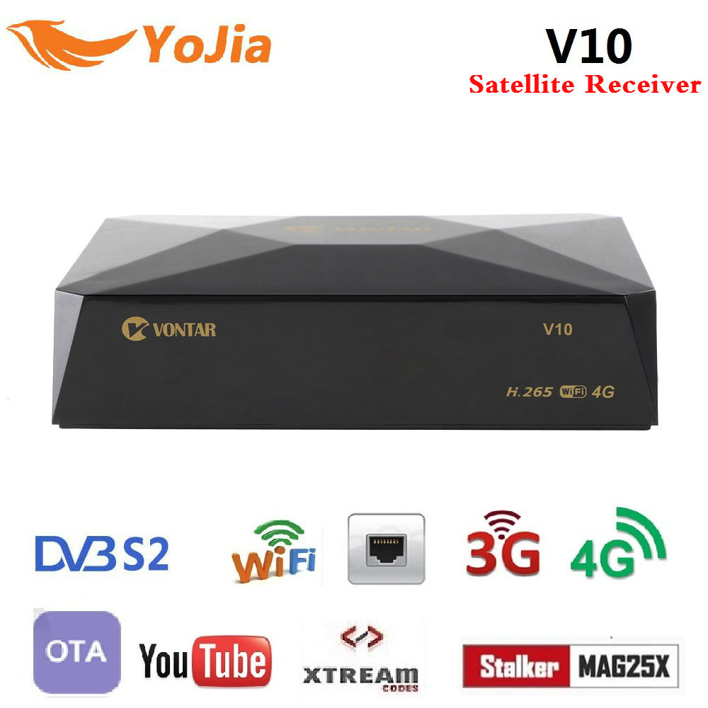V10 DVB-S2 Digital Satellite Receiver Plus 8PSK Support 3/4G Modem CS Cline Stalker Xtream Spain Portugal TPList PK Gtmedia V7S