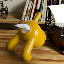 Tissue-boxen rollenpapier halter kreative niedlichen hund form kunststoff stehen tissue box magie aufkleber gabe toilettenpapierhalter