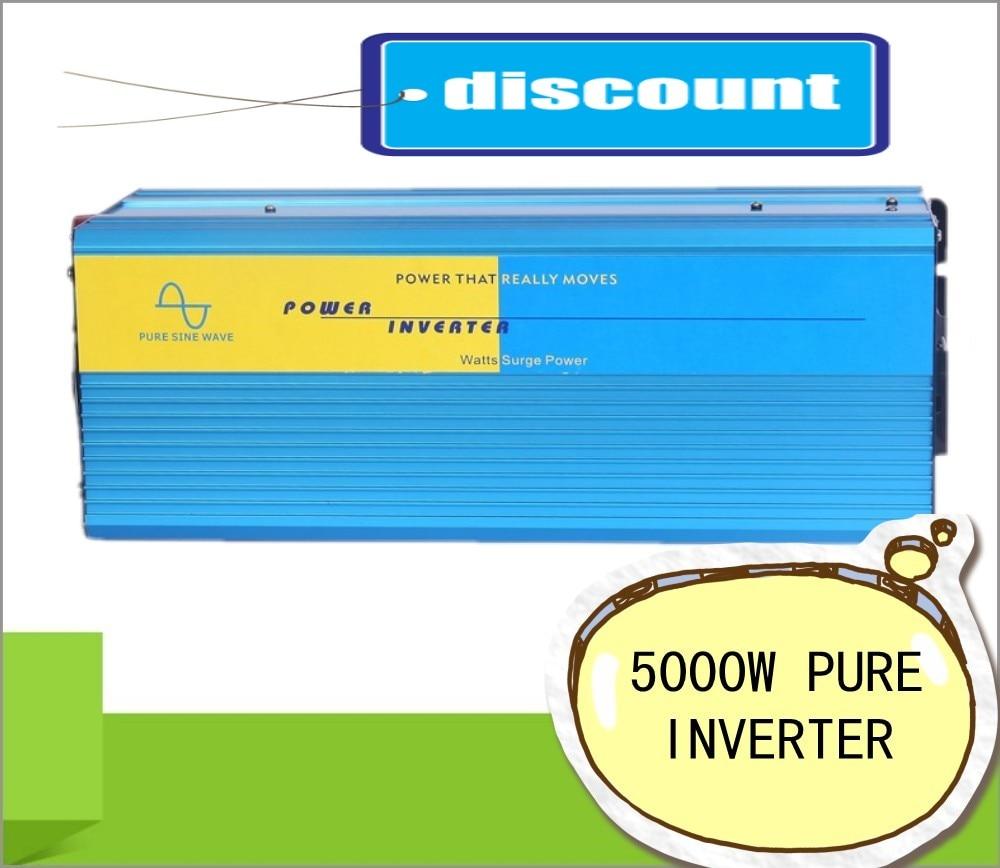 5000W 24VDC 110V/120V/220V/230VAC 50Hz/60Hz Peak Power 10000W Off-grid Pure Sine Wave Solar Power Inverter or Wind Inverter