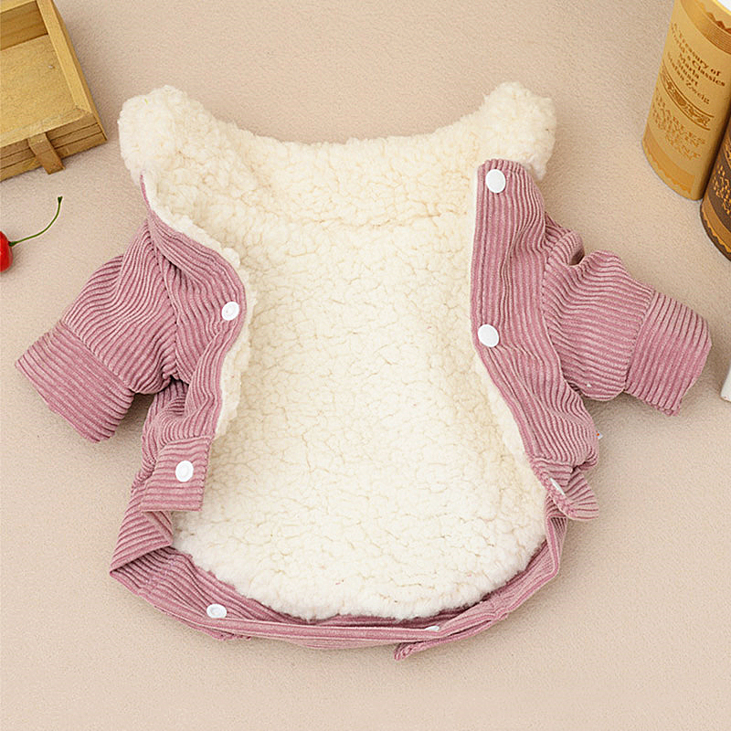 Pink Dog Clothes Winter French Bulldog Dog Clothes For Small Dogs Warm Outfit Pugs Clothing For Chihuahua Clothes Roupa Pet 38S2