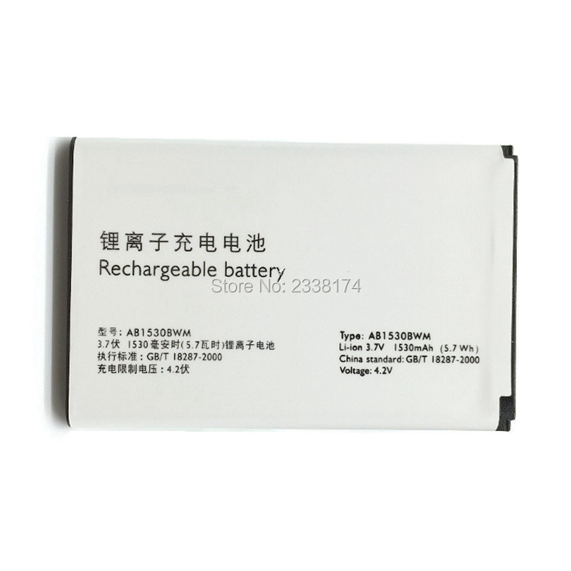 1pcs 100% High Quality AB1530BWM 1530mAh Battery For PHILIPS X620 X603 X630 X806 X809 Mobile phone Freeshipping + Tracking Code