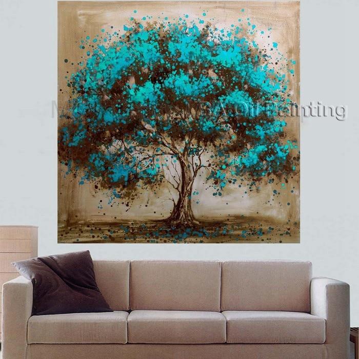 fait la main peinture l 39 huile sur toile arbre fleur rouge peinture l 39 huile abstraite. Black Bedroom Furniture Sets. Home Design Ideas