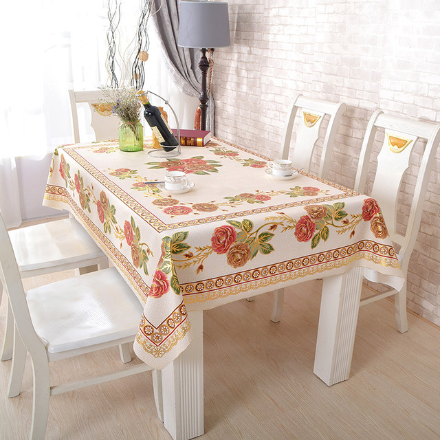 Pvc Non Slip Insulation Table Cloth Pastoral Lattice Table Cloth Home Hotel  Party Wedding Table