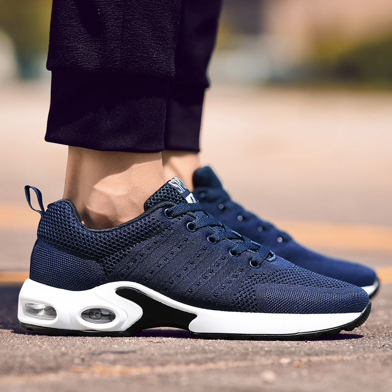 2018 Men Running Shoes Men Sport Shoes Comfortable Damping Air Cushion Mesh Shoes for All Season Hot Selling