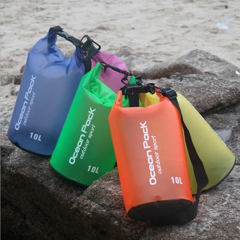 10L PVC Waterproof Shoulder Bag Camping Hiking Swimming Bag Dry PVC Snorkeling Rafting Pouch