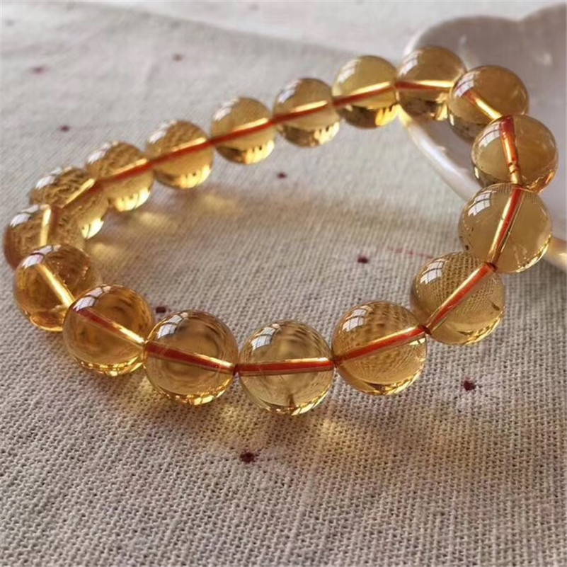 Natural Citrine Quartz Bracelet (1)
