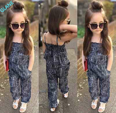 2016 New Fashion Kids Baby Girls Backless Overalls Romper Jumpsuit Playsuit Clothes 2-7Y Tracksuit For Girls Clothing Sets polka dot baby girls clothes backless flounced kid girls rompers jumpsuit playsuit one pieces outfits 0 18m blue pink purple