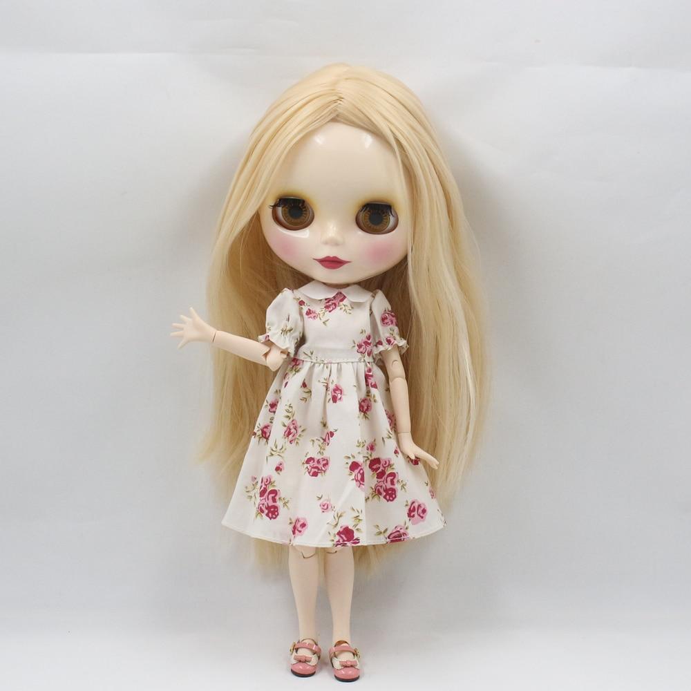 Oyuncaklar ve Hobi Ürünleri'ten Bebekler'de BUZLU Çıplak Fabrika Blyth Doll Serisi No.230BL3307 Şampanya saç (renk değiştirecek zaman Sıcaklık <15) beyaz cilt'da  Grup 1