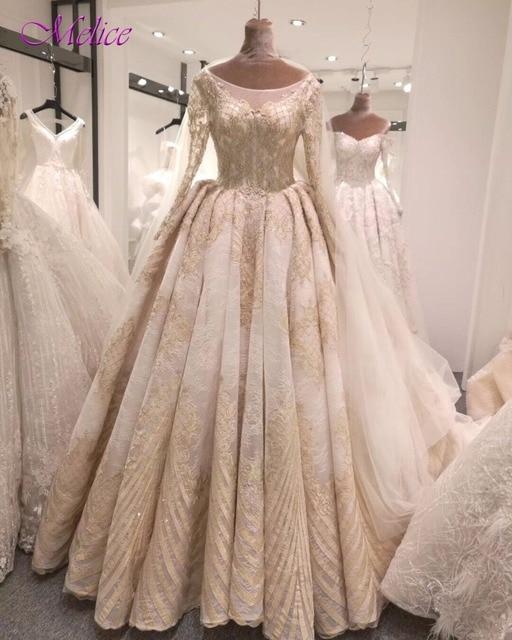 Fmogl Fashion Scoop Neck Appliques Lace A-Line Wedding Dress 2019 Luxury  Beaded Princess Wedding Gown Robe De Mariage Plus Size 93db101082ee