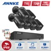 ANNKE 6x 1500TVL 720P Outdoor Cameras 1080N TVI 4in1 8CH DVR Security System CCTV Surveillance Kits
