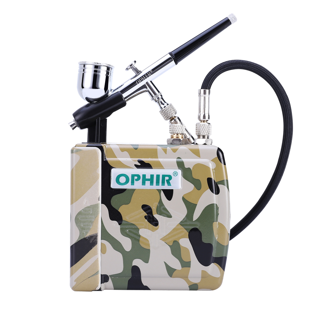 OPHIR Nail Art Airbrush Set 0 3mm Dual Action Airbrush Kit with Mini Air Compressor for Cake Decoration Makeup_AC003H 004 AC011 in Temporary Tattoos from Beauty Health