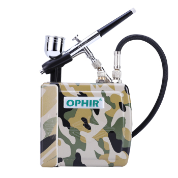 OPHIR Nail Art Airbrush Set 0.3mm Dual-Action Airbrush Kit with Mini Air Compressor for Cake Decoration Makeup_AC003H+004+AC011 ophir 0 3mm dual action airbrush kit with air compressor cake airbrush kit nail art paint mahine makeup tools ac003h ac005 ac011