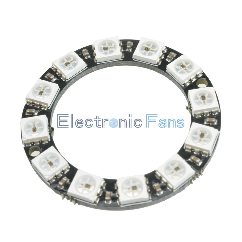 free shipping  rgb led ring 12 bits ws2812 5050 rgb led with integrated driver module for