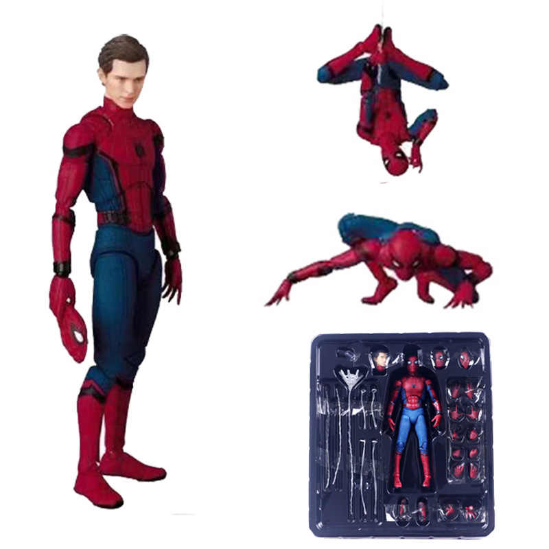 18 cm PVC Spiderman Action Figure Giocattolo Hero Spider Man Figurine Modello Anime Movie Figure Collection Giocattolo Per I Ragazzi In box