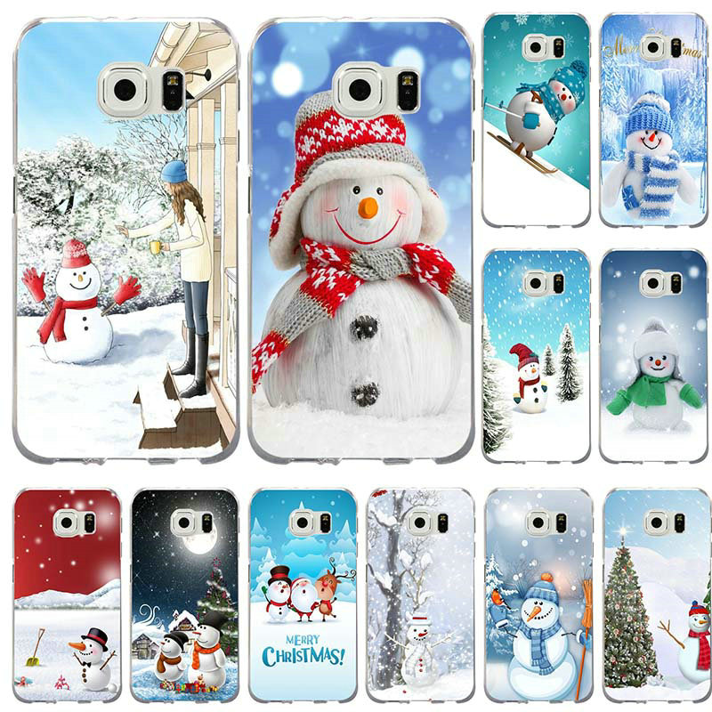 Phone-Cases-Cover Merry-Christmas Samsung Galaxy S5 Mini For Note-3/4-5-8/S3/S4 S6 S7