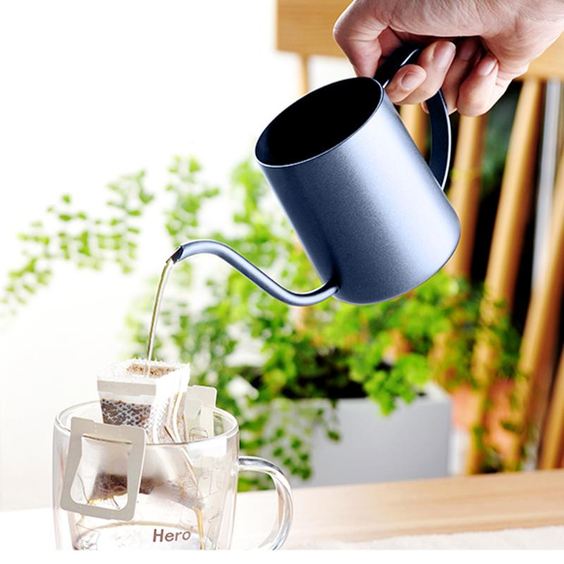 250ML350ML:  250ML/350ML Gooseneck Spout Coffee Kettle Pour Over Thickening Stainless Steel Long Mouth Tea Pot Coffeeware - Martin's & Co