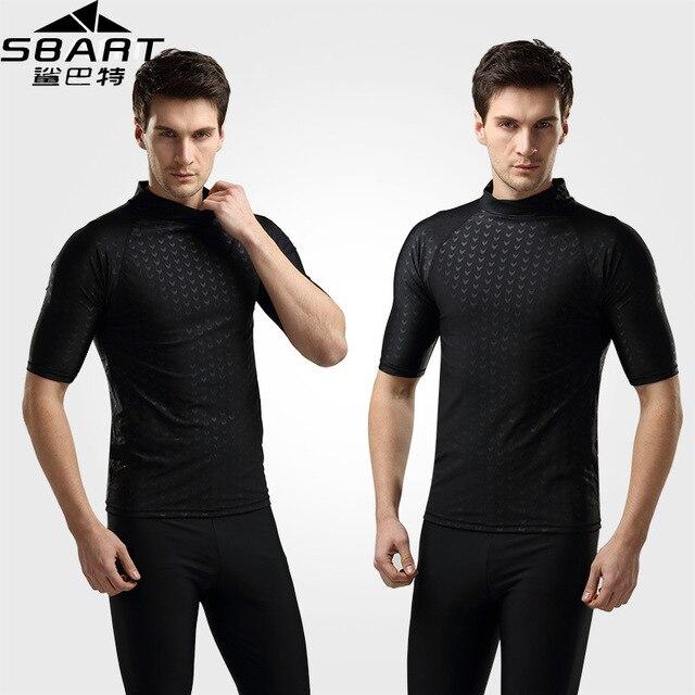 Sbart rashguard men top 2015 swimsuit short sleeve jacket for Men s uv swim shirt short sleeve