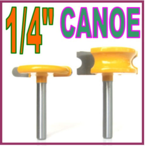 2 pc 1/4 Shank 1/4 Diameter Flute and Bead Router Bit Set wood cutter woodworking cutter woodworking bits wood milling cutter strong 1 2 shank 2 1 4 diameter bottom cleaning router bit mayitr woodworking router bits milling cutter for mdf solid wood