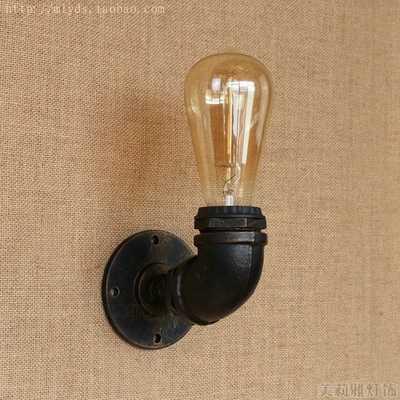 Лофт стиль железная водопроводная лампа Эдисона бра RH Ретро Настенные светильники для дома винтажное промышленное освещение